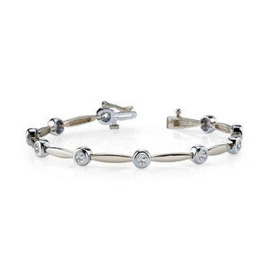 5Ct round diamond tennis bracelet sparkling white